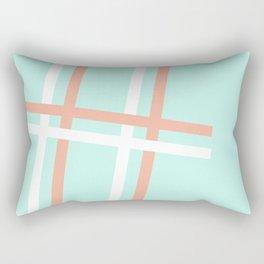 Turquoise & Coral (4) Rectangular Pillow