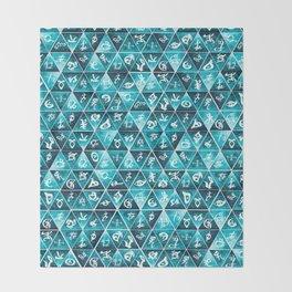 Shadowhunters Runes Mosaic Throw Blanket