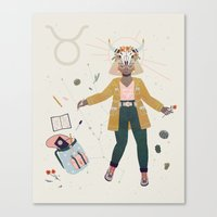 taurus Canvas Prints featuring Taurus by LordofMasks
