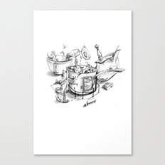 Fried calamari Canvas Print