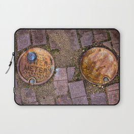 Water Meter Caps, from my street photography collection Laptop Sleeve