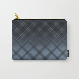 Dark gray pattern in the forward cage on satin grey background . Carry-All Pouch