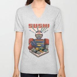 Super Sushi Robot Unisex V-Neck