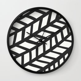 Lingering Lines Black & White Wall Clock