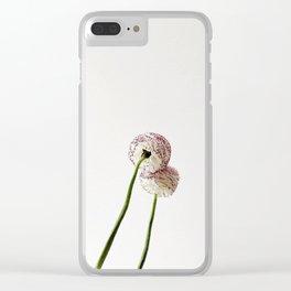 Flor reflejada Clear iPhone Case