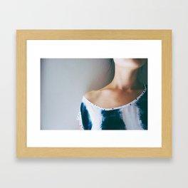 triangles/dots Framed Art Print