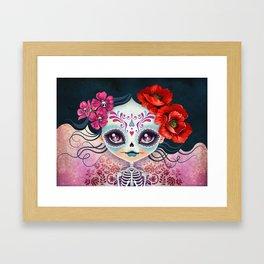 Amelia Calavera - Sugar Skull Framed Art Print