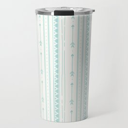 Blush green bohemian arrows zigzag geometrical Travel Mug