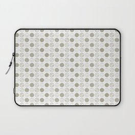 Dancing Grey Circles by Deirdre J Designs Laptop Sleeve