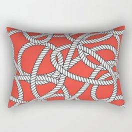 Red Rope Pattern Rectangular Pillow