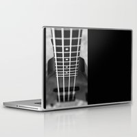 bass Laptop & iPad Skins featuring bass guitar by Falko Follert Art-FF77