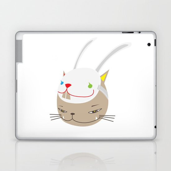 CAT WITH RABBITZ MASK Laptop & iPad Skin