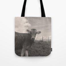vintage cow Tote Bag