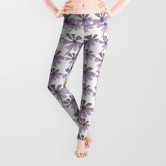 Daisies In The Summer Breeze - Purple Hue Leggings