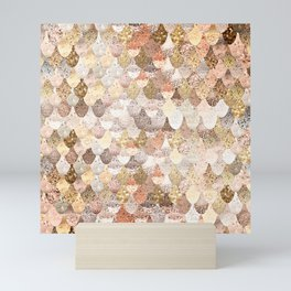 MERMAID GOLD Mini Art Print
