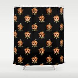 Pumpkin Head Kewpie Shower Curtain