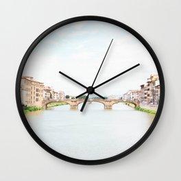Ponte Vecchio, Florence Wall Clock