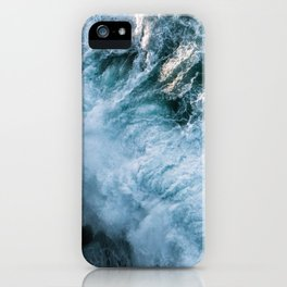 Wave in Ireland during sunset - Oceanscape iPhone Case