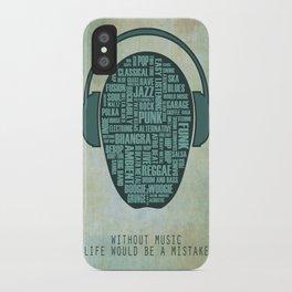 I love music iPhone Case