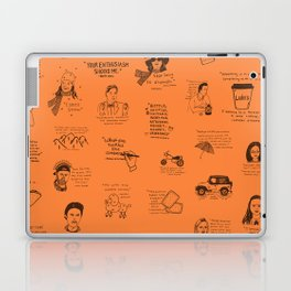 Gilmore Girls Quotes in Orange Laptop & iPad Skin