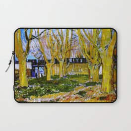 Avenue of Plane Trees near Arles Station, Vincent van Gogh Laptop Sleeve