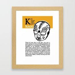 Love Knot Framed Art Print