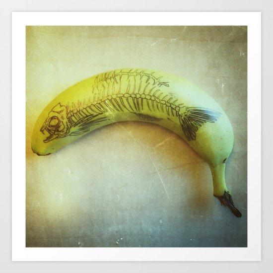 Banana Fish Bone Art Print