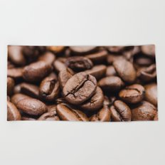Coffee Beans Beach Towel