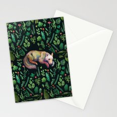 a wild wolf Stationery Cards