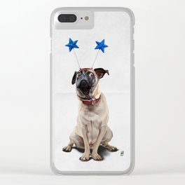 A Pug's Life (Wordless) Clear iPhone Case