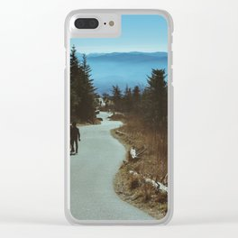 Path up the Great Smoky Mountains Clear iPhone Case