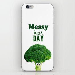 Messy hair day iPhone Skin