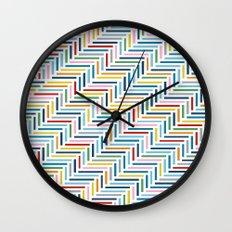 Herringbone Color Wall Clock