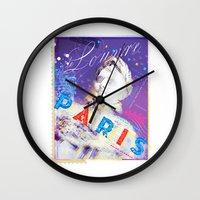 posters Wall Clocks featuring Paris Posters - Napoleon by G_Stevenson