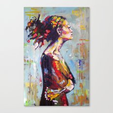 Lena- beautiful woman Canvas Print