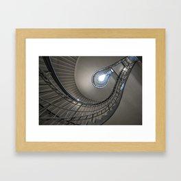 Lightbulb staircase Framed Art Print