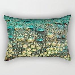 Green Yellow Crocodile Rectangular Pillow