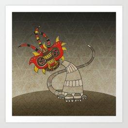 Masquerade in Africa III Art Print