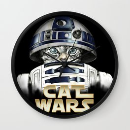 Cat R2 D2 Wall Clock