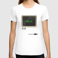 computer T-shirts featuring Retro Computer  by Daniel McLaren