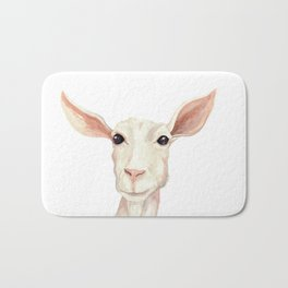 Watercolor Billy Goat Bath Mat