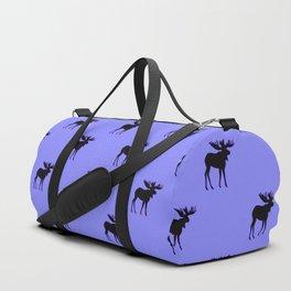 Bull Moose Silhouette on Periwinkle Duffle Bag