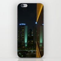 seoul iPhone & iPod Skins featuring Seoul Reflection by Anthony M. Davis