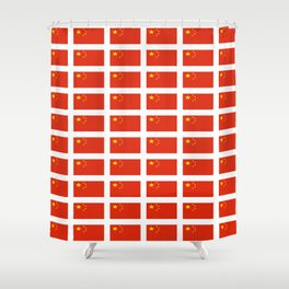 flag of china -中国,chinese,han,柑,Shanghai,Beijing,confucius,I Ching,taoism. Shower Curtain