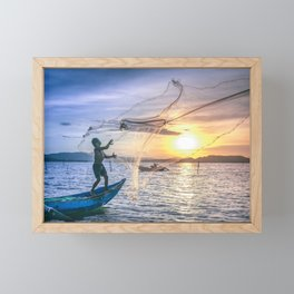 Cast the Net Framed Mini Art Print