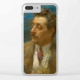 Giacomo Puccini (1858 – 1924) by Arturo Rietti in 1906 Clear iPhone Case