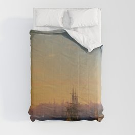 View of Constantinople and the Bosphorus Landscape Masterpiece by Ivan Aivazovsky Comforters