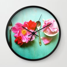 You Are What You Eat - Aqua Wall Clock