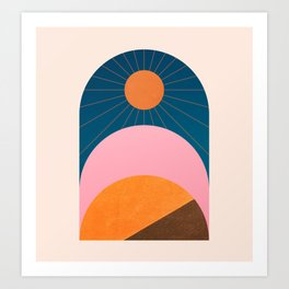 Abstraction_Sunshine_Minimalism_001 Art Print