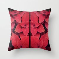 moulin rouge Throw Pillows featuring Rouge by KunstFabrik_StaticMovement Manu Jobst